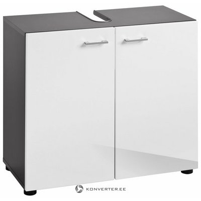 Gray-white high gloss sink cabinet (tetis) (with beauty defects, in box)