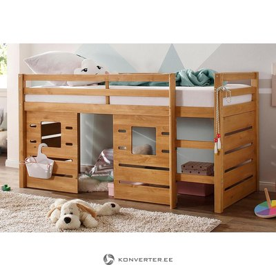 Light brown solid wood bunk bed (alpine)