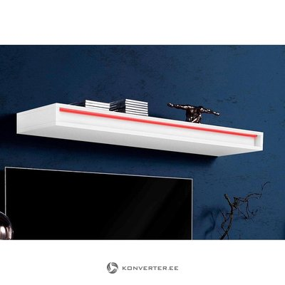 White high gloss wall shelf