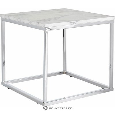 White small sofa table on metal frame