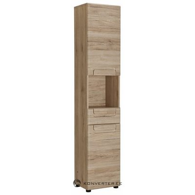 Brown tall cabinet with 2 doors and 1 drawer (malea) (whole, in box)