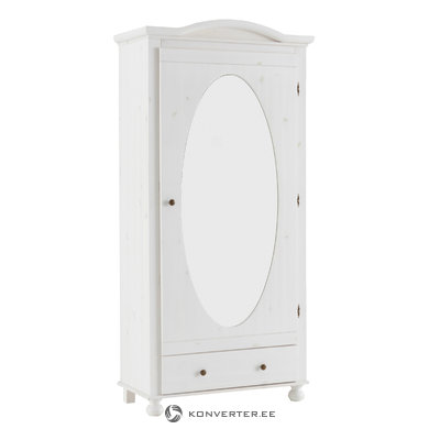 Hardy Cabinet White/mirror - White/Lacquer