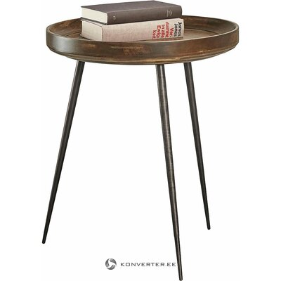Dark brown round table (whole, in box)