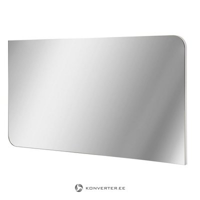 Gray-white high-gloss wide mirror
