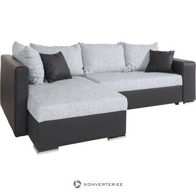 Antracito šviesiai pilka kampinė sofa-lova (john) (visa, dėžutėje)
