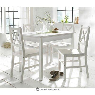 Balts pusdienu galds skandināvu stilā