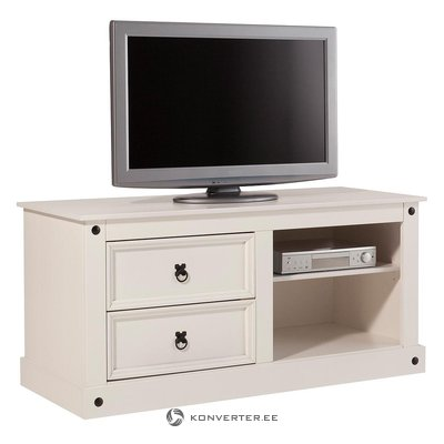 White solid wood tv cabinet