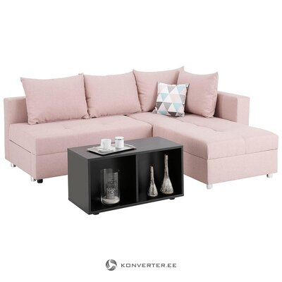 Pink corner sofa bed (italy) (whole, in box)