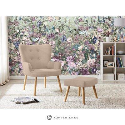 Beige nojatuoli jyrkkä (laventti)