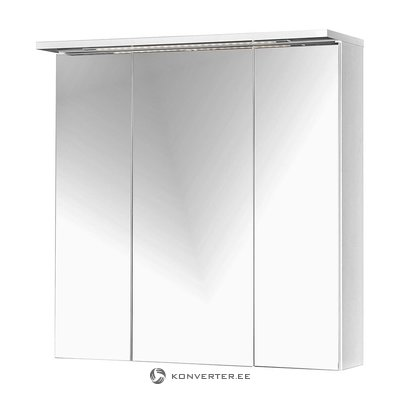 3 Mirror Door And LED Light Wall Cabinet