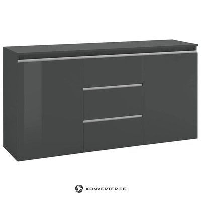 Gray high gloss chest of drawers (in box, with beauty defects)