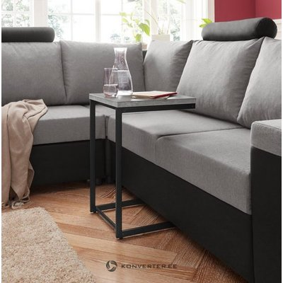 Gray-black small coffee table with metal frame (inosign) (in box, whole)