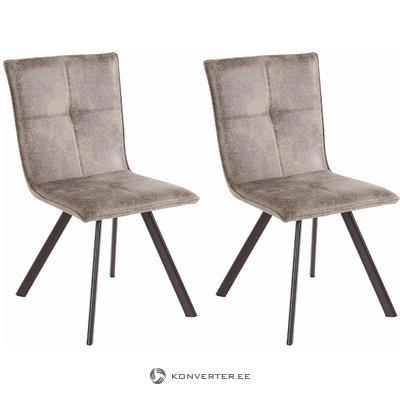 Peter chair 2 pack - microfiber Light grey