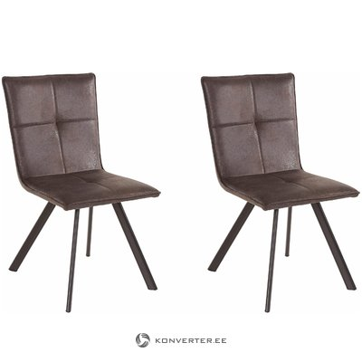 Peter chair 2 pack - microfiber dark grey