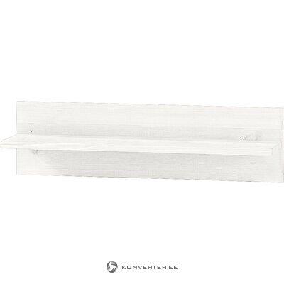 Balts masīvkoka sienas plaukts (albijs)