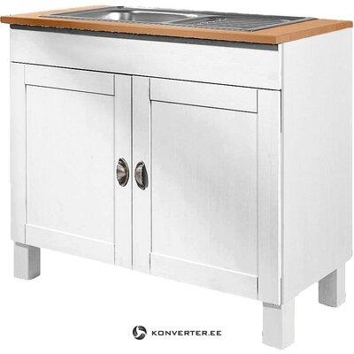 Бело-коричневый кухонный шкаф (осло)