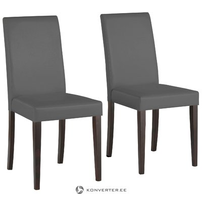 Lucca PU chairs Grey- HavanNatural/lacquer