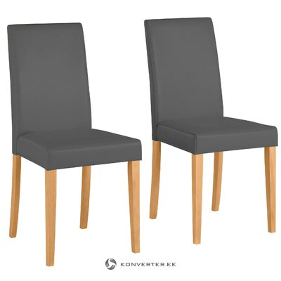Lucca PU chairs Grey- Stain/Wax