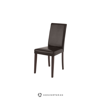 Liva PU chairs Brown-Havana/lacquer