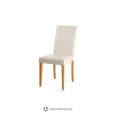 Liva PU Creme chair-Stain/Wax