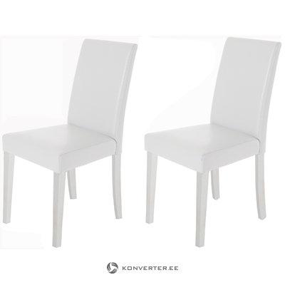 Blake PU chairs White - White
