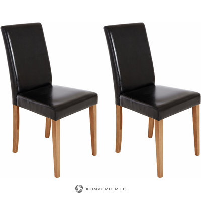 Blake PU chairs Black- Wild Oak