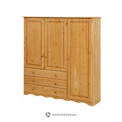 Amanda linen cabinet 3 doors/3 drawers - Stain/Wax