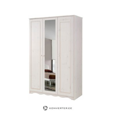 Amanda Wardrobe 3 Doors/1 Mirror white lacquer