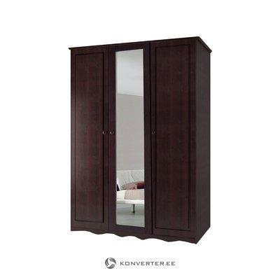 Amanda Wardrobe 3 Doors/1 Mirror Havana lacquer