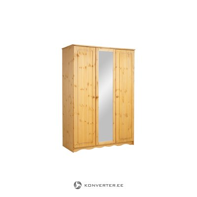Amanda Wardrobe 3 Doors/1 Mirror stain/wax