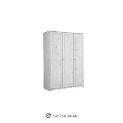 Amanda Wardrobe 3 Doors white lacquer