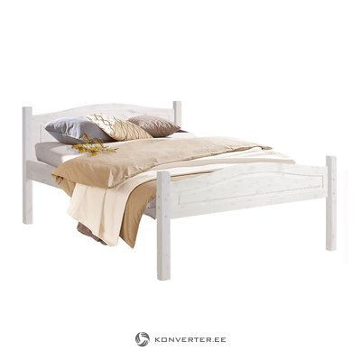Barney Bed 140x200 cm white lacquer