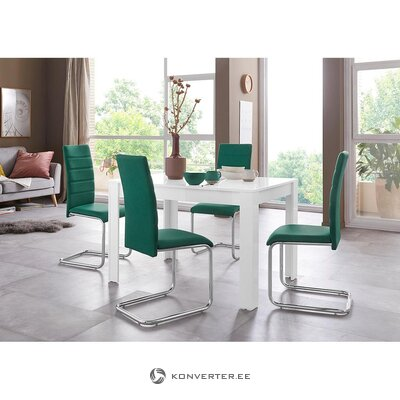 White high gloss dining table (lynn) (whole, in box)