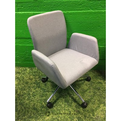 Light gray chair with armrests on wheels