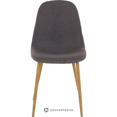Tummanharmaa pehmeä tuoli (kokonainen, näytehalli)
