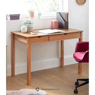Light brown solid wood desk (gava)
