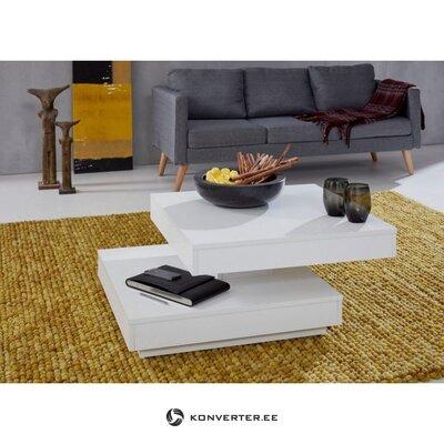 Valkoinen kääntyvä sohvapöytä. (kokonainen, laatikossa)