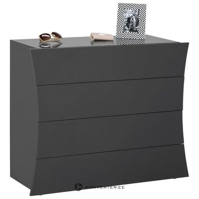 Gray high gloss chest of drawers (arco) (with defects in the box)