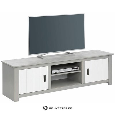 White-gray TV stand (camping)