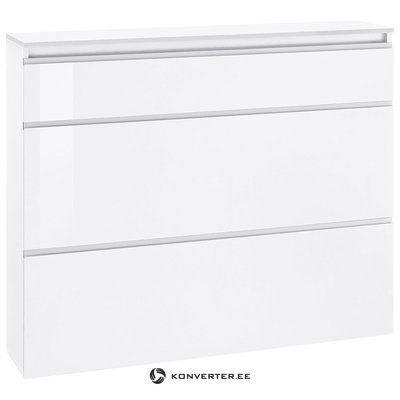White high gloss shoe cabinet (with beauty defects)
