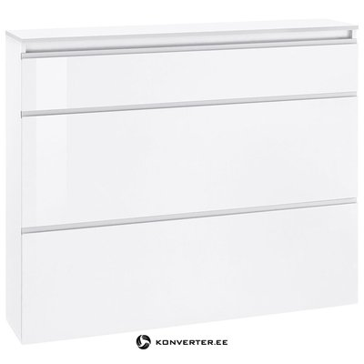 White high gloss shoe cabinet (with defects in the box)