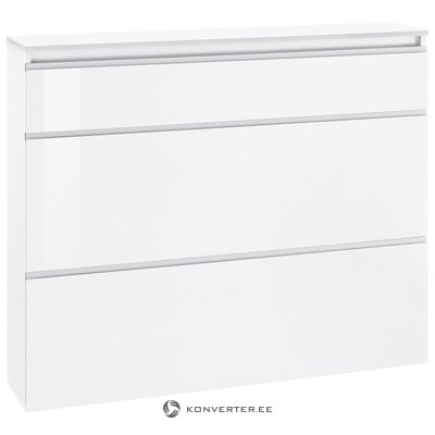 White high gloss shoe cabinet