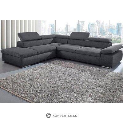 Gray Large Corner Sofa (ecksofa valantine) (in a box, whole)