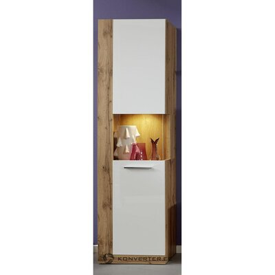 Brown-white high cabinet (rock) (box, whole)