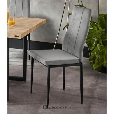 Gray velvet chair (remus) (healthy, sample)