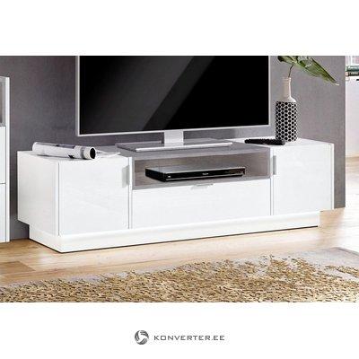 Бело-серый шкаф для телевизора (атланта) (полный комплект)