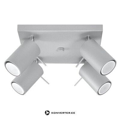 Серый потолочный светильник (соллюкс) (образец холла)