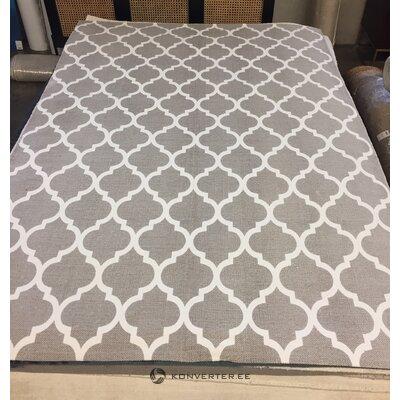 Harmaa-valkoinen kuviollinen matto (amira) 230x160