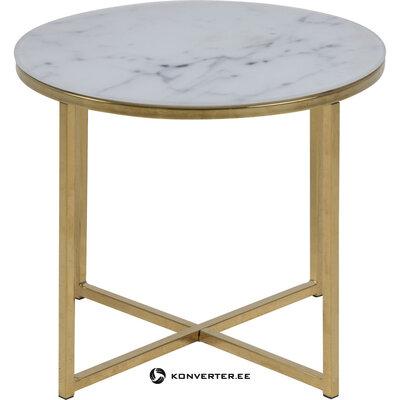 Marmurinis kavos staliukas (actona) (su nedideliu defektu salės pavyzdys)