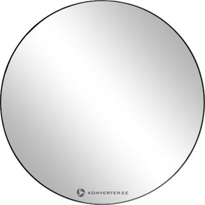 Круглое настенное зеркало в черной рамке (broste copenhagen)